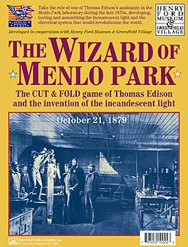 Chatham Hill Games The Wizard of Menlo Park Paper Board Game