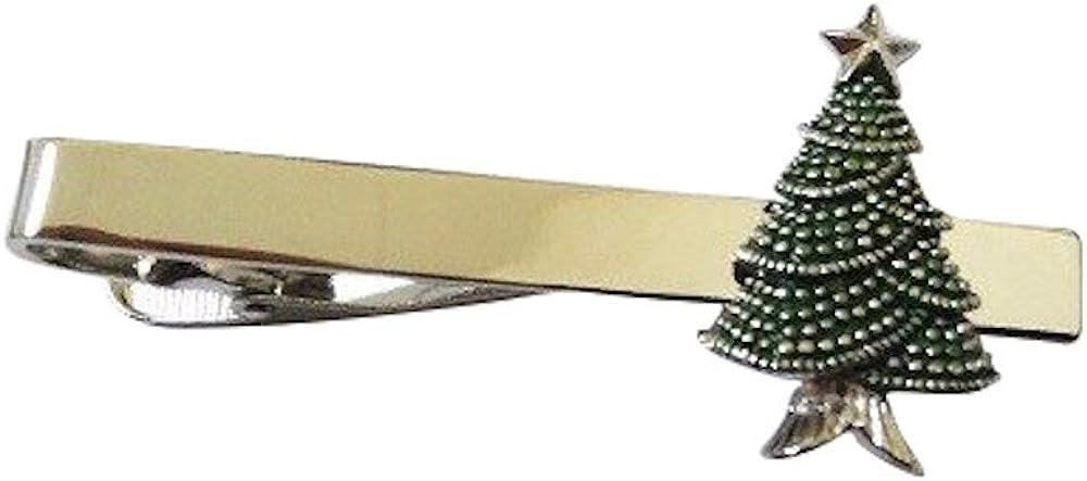 Procuffs Christmas Tree Santa Claus Winter Tie Clip Black Wedding Bar Clasp