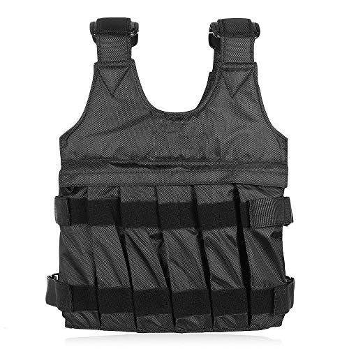 GDSZ 20Kg Loading Weighted Vest- Endurance Weighted Vest -For Boxing Training Equipment Adjustable Exercise Waistcoat Black Swat Sand Clothing by GDSZ