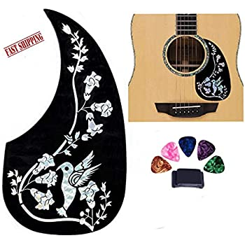 Hummingbird Style Acoustic Guitar Pick Guard White//Gold