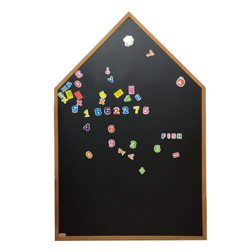 LIANGJUN Message Board Chalkboards Magnetic House Shape Graffiti Multifunction Family Coffee Shop Chalk Writing, 2 Sizes (Color : Black, Size : 40x60cm)