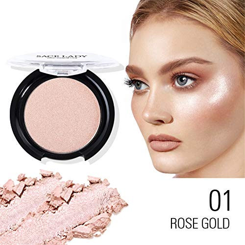 Shimmer Highlighter Powder Long-Lasting Face Glow Illuminator Blusher Make Up Palette - Pearl 3.5g/0.12oz Makeup