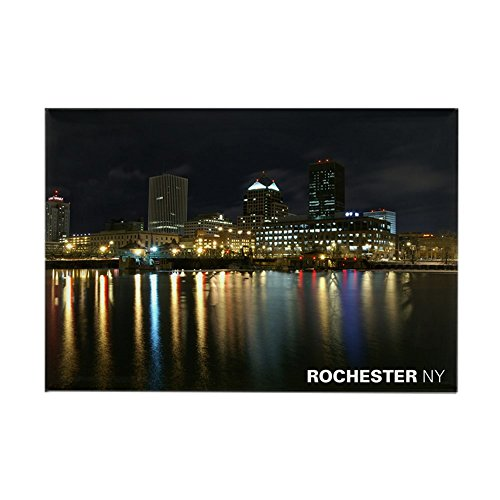 CafePress Rochester NY Skyline Rectangle Magnet Rectangle Magnet, 2