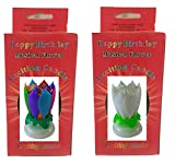Happy Birthday Cake Candle Decoration - Two Pack (MULTI WHITE)