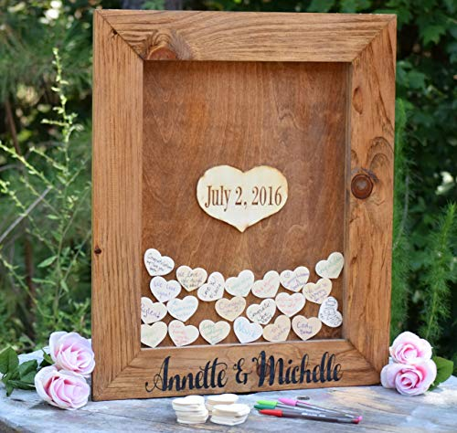 Wedding Guest Book Alternative - Heart Drop Guest Book - Guest Book Drop Box - Guest Book Sign - Guestbook Drop Box - Guest Book Ideas -