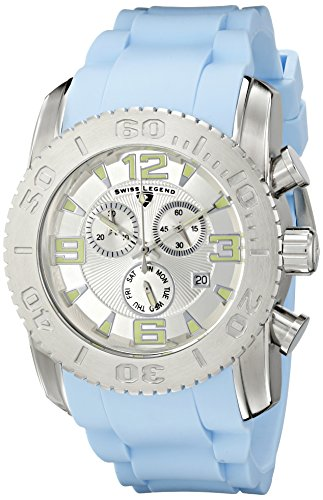Swiss Legend Men's 10067-02S-BBLS Commander Analog Display Swiss Quartz Blue Watch