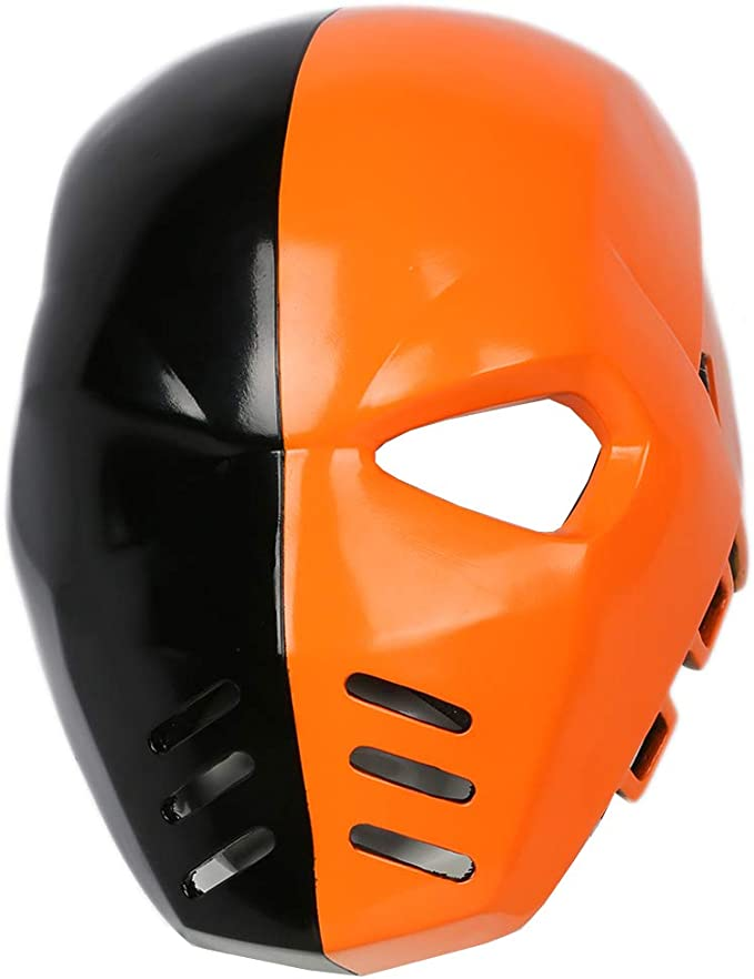 Xcoser Cosplay Kost/üm Maske Dunkel Grau Harz Helm Film Verr/ücktes Kleid Replik f/ür Erwachsene Halloween Zubeh/ör