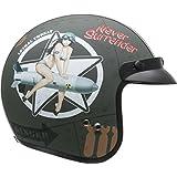 Vega X380 Helmet with Bombs Away Graphics (Flat Green, Large)