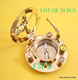 royal victorian export Nautical Brass West London Sundial Compass Marine Working Pocket Compass Gift 3''