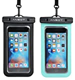 Ansot 4326539231 Universal Waterproof Case, Cellphone Dry Bag Pouch For Apple iPhone 6S 6,6S Plus, Se 5S, Samsung Galaxy S7 etc. - 2 Piece
