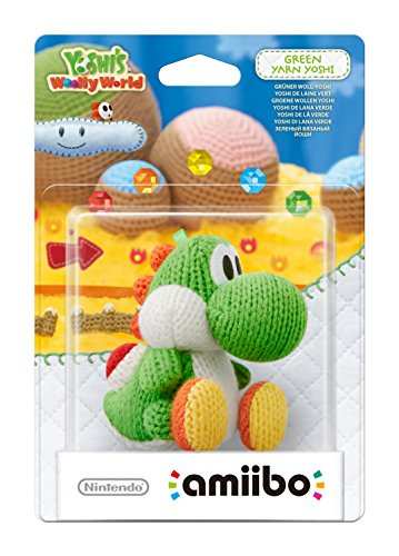Green Yarn Yoshi amiibo - Europe/Australia Import (Yoshi's Woolly World Series)