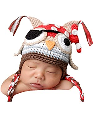 Melondipity's Baby Owl Pirate Hat for Baby and Toddler Boys