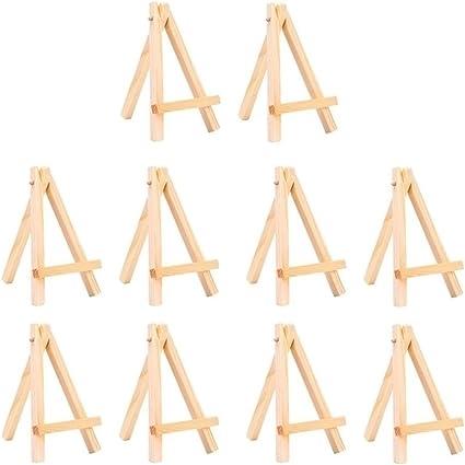 Supvox Mini cavalletti per espositori in legno Supporto per cavalletti in legno per cornici per quadri art 20 pz