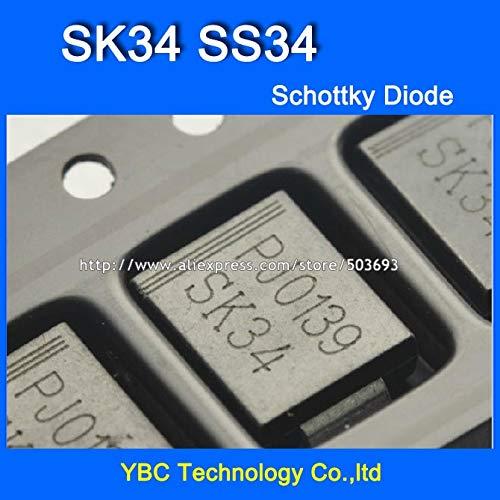MAO YEYE 100pcs/lot SK34 SS34 SMC 3A/40V 1N5822 Schottky Diode