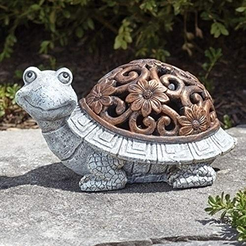 (LED Lighted Turtle Garden Statue, 9 Inch)