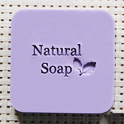 Natural soap leaf design soap stamp custom DIY new seal soap printed pattern resin acrylic stamp for soap 44cm