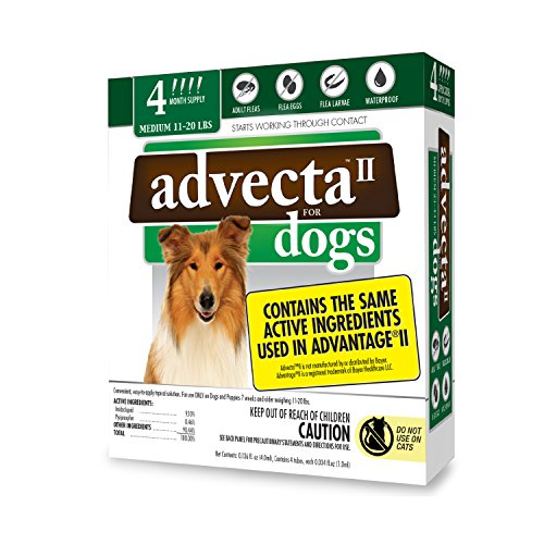 (Advecta II Flea Treatment - Flea and Lice Prevention for Dogs, 4 Month)