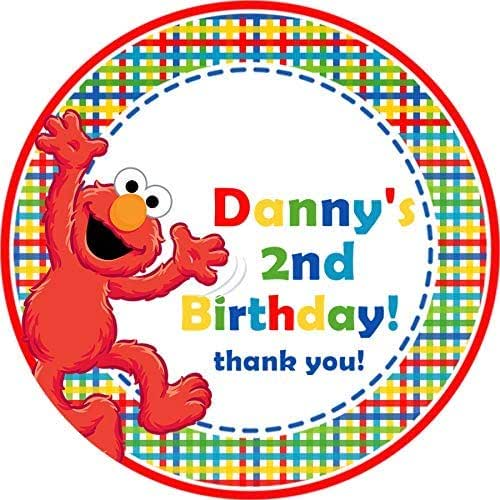 """12 Personalized Big Bird Birthday Party Stickers Favors Labels tags 2.5/"""" Sesame"""