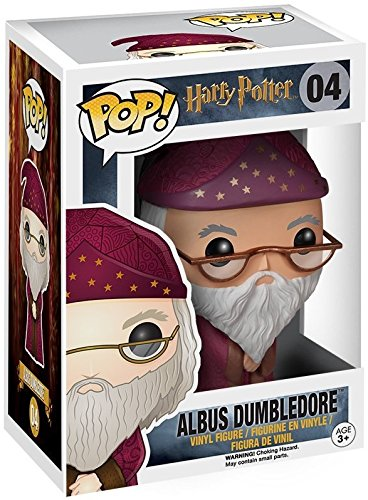 Funko Pop Movies: Harry Potter Bundled with Pop Box Protector Case Albus Dumbledore #04 Vinyl Figure