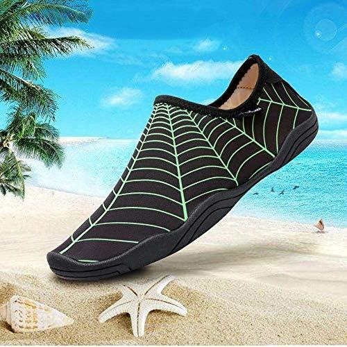 カップル裸足肌スリップ速乾性通気性ワタリ靴上流の靴、屋外ブラックダイビング綿ゴム水泳シューズダイビングシューズビーチシューズ ポータブル (色 : Black, Size : US9)