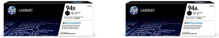 HP 94X | CF294X | Toner Cartridge | Black | High Yield & 94A | CF294A | Toner Cartridge | Black