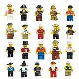Cren Lot of 10 New Minifigures Figures Men People Minifigs Model: