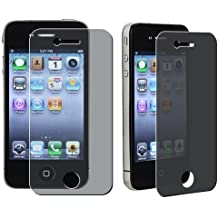 eTECH Collection 2 Pack of Privacy Screen Protectors for Apple iPhone 4S/4 AT&T, T-Mobile, Sprint, Verizon -- Free Shipping From USA
