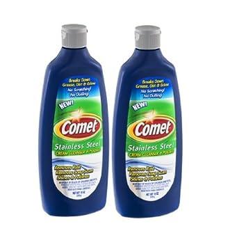 Amazon.com: Comet Acero Inoxidable Crema Limpiador y ...