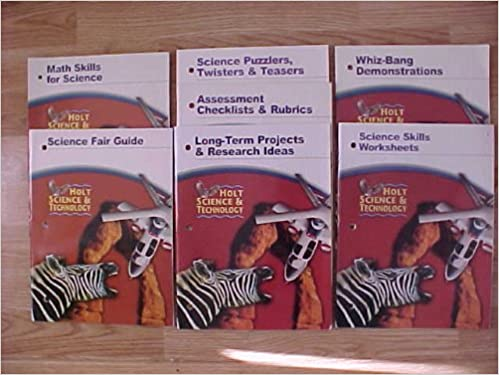 Package of 7 Holt Science and Technology Teacher Resource Books ...