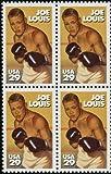 JOE LOUIS ~ BLACK HERITAGE ~ BOXER ~ BROWN BOMBER ~ BLACK HISTORY #2766 Block of 4 x 29¢ US Postage Stamps