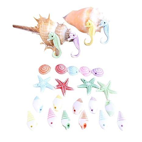 Toyvian 50 Piezas de Resina artesanía Acuario Micro Paisaje decoración para Peces Tanque decoración Animal Animal