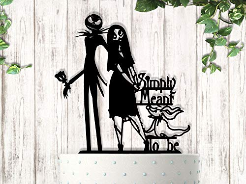 Jack and Sally Simply Meant To Be Wedding Cake Topper]()