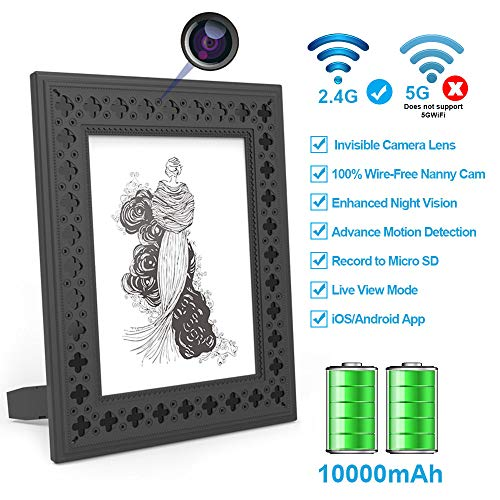 Great Deal! Hidden Camera WiFi Photo Frame HD Home Security Spy Camera Night Vision and Motion Detec...