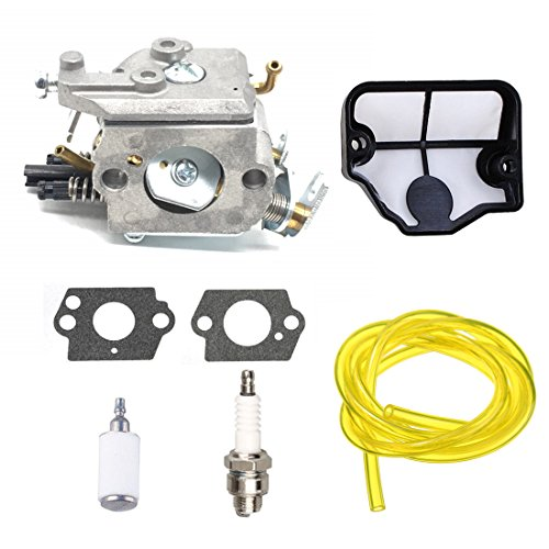 142 Air Filter - AnTo 530071345 Carburetor with Air Filter Repower Kits for Husqvarna 36 41 136 137 137E 141 142 141LE 142E Husky Chainsaw Saw 530071987 with Air Filter Tune Up Kit