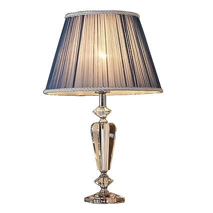 LIU RUOXI Lámpara De Mesa De Cristal Lámpara De Sobremesa Salón & Dormitorio Lámpara De Sobremesa Decorativa Lámpara De Mesa (Azul)