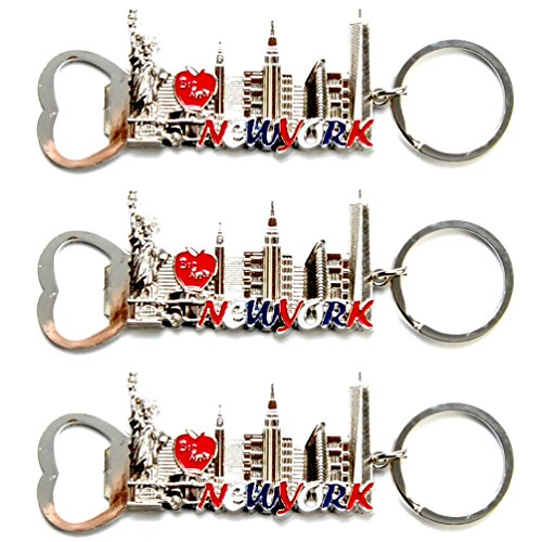 New York Keyring Souvenir Gift Bag Charm Statue of Liberty Big Apple *4 Colours*