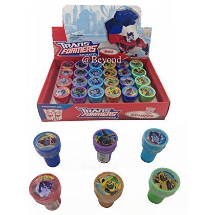 Disney Transformers Self-inking Stamps Birthday Party Favors 24 Pieces (Complete Box) ()