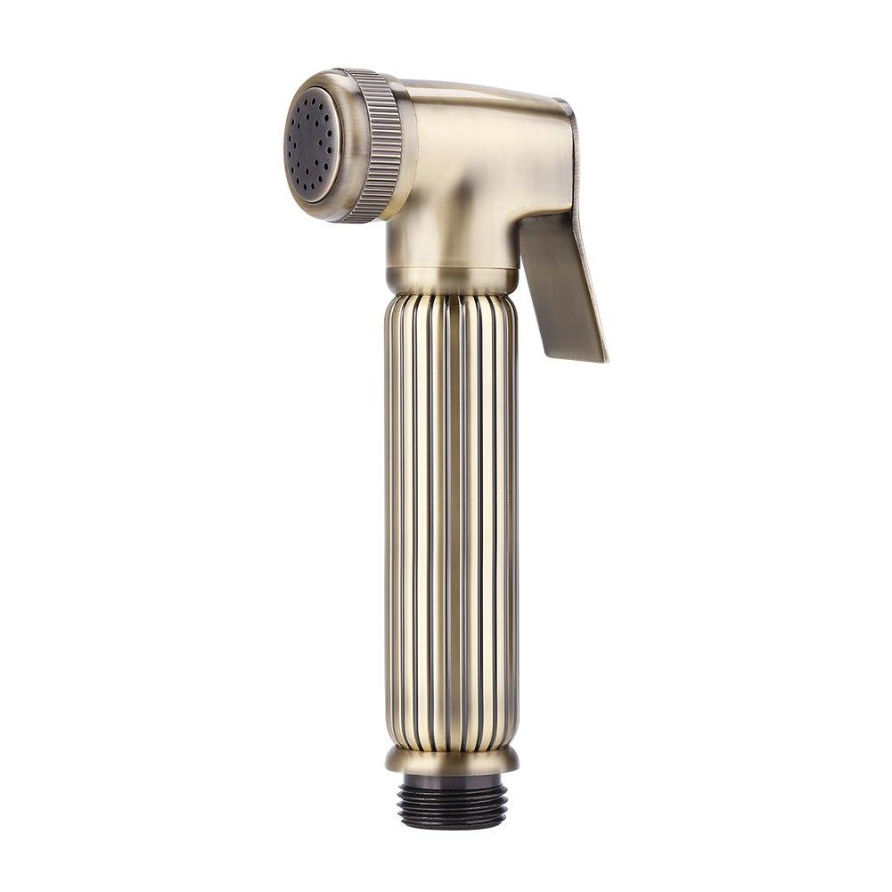 Fdit Handheld Bidet Diaper Spray Sprayer Antique Brass Shower Toilet Bathroom Shattaf Water Pressure Range 0.05-0.8Mpa