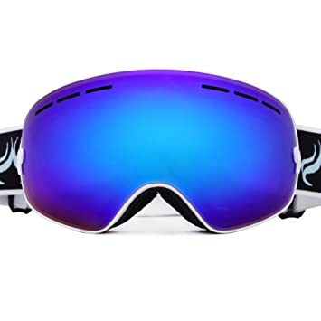 snowboard goggles canada s8hw  Evangel Unisex Outdoor Windproof Dustproof Ski Goggles Double Lens Anti-fog  Big Spherical Professional Ski