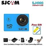 Sport Action Camera, Original SJCAM SJ4000 1080P Action Cam 12MP Sport Waterproof HD DV Camera (White)