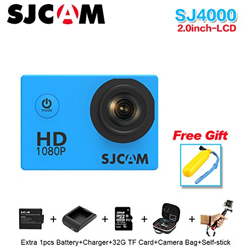Sport Action Camera, Original SJCAM SJ4000 1080P Action Cam 12MP Sport Waterproof HD DV Camera (White) by SJCAM
