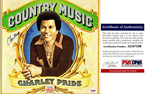 Charley Pride Signed - Autographed Country Music LP Record Album Cover with PSA/DNA Certificate of Authenticity (COA)