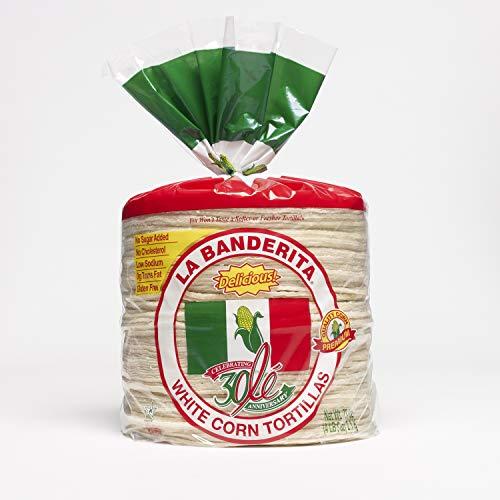 'La Banderita' White Corn Tortillas - 80ct Packs - 6 Pack Case