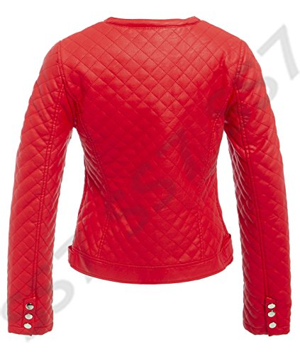 mujer Biker SS7 Rosso para Chaqueta Fn0xx4qwCt