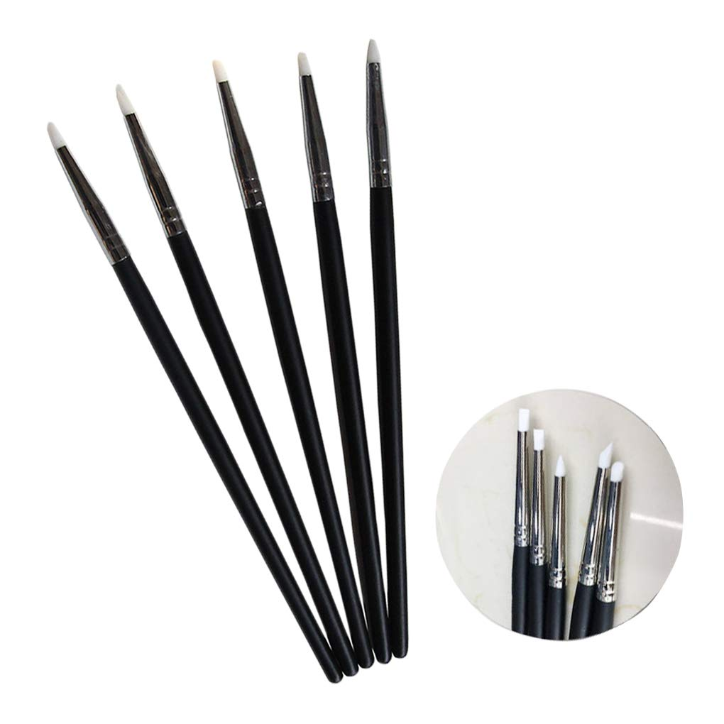 Lorjoyx 5pcs Rubber Soft Head Shapers Rubber Shapers Polymer Polymer Clay Pottery Pen Sculpting Modelling Hobby Tools