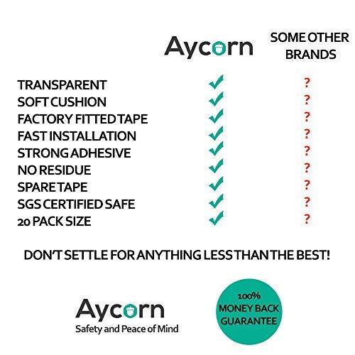 Paquete de 20 Aycorn Los mejores protectores de esquinas de seguridad para ni/ños protectores de parachoques de bordes de mesa grandes y blandos de calidad superior para pruebas de ni/ños y beb/és.