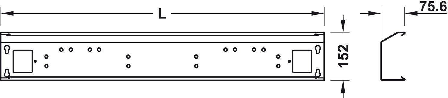 L/änge 1024 mm 1 St/ück MADE IN GERMANY M/öbelbeschl/äge Stahl silber RAL 9006 Gedotec Metall Kabelkanal Schreibtisch Kabeldurchlass zur Aufnahme von Steckdosenleisten /& Kabel