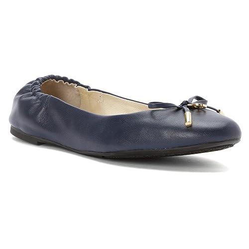 2186c73bb5af MICHAEL Michael Kors Women s Melody Ballet Flat Navy Leather 9.5 M   Amazon.ca  Shoes   Handbags