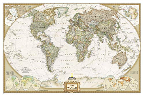 National Geographic: World Executive Wall Map (46 x 30.5 inches) (National Geographic Reference Map)