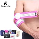 Runworld (1 Pair) Arm & Elbow Brace Compression Bandage Wraps Sleeve for Men Women Tennis Elbow, Golfers Elbow, Tendonitis, Arthritis, Weightlifting, Joint Pain Relief, Injury Recovery